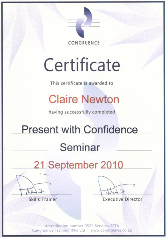 Qualifications - Claire Newton