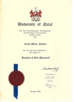 Bachelor of Arts Honours Degree (BA Hons)