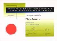 Course Certificate - Child Trauma Therapy