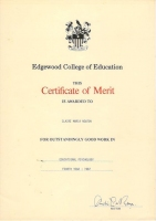 Certificate of Merit - Educational Psychology