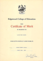 Certificate of Merit - Junior Primary Studies