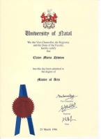 Master of Arts Degree (MA Psychology)