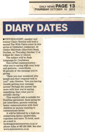 Daily News - Diary Dates