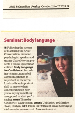 Mail & Guardian - Seminar: Body Language