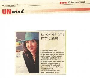 Berea Mail - Enjoy tea time with Claire